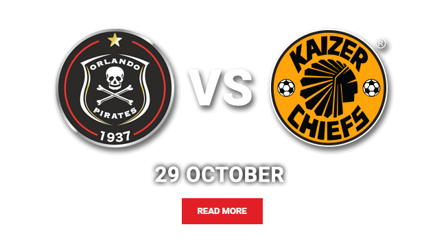 Absa Premiership: Orlando Pirates vs Kaizer Chiefs