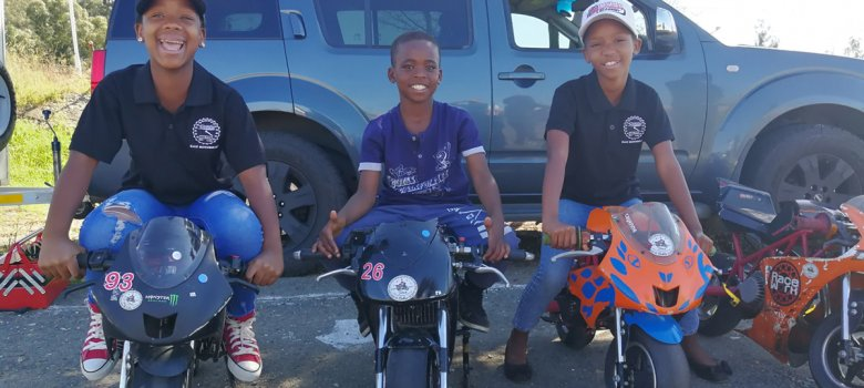 Soweto Drift Academy helps Titans Bike Academy to run kiddies riding classes