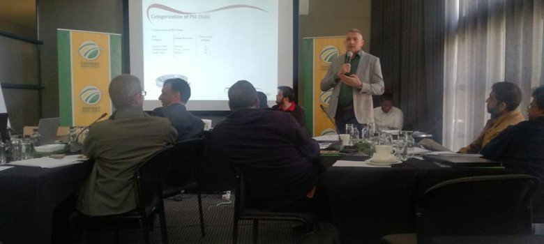 Dr. Grobbelaar gives presentation at CSA Stadium Managers Forum