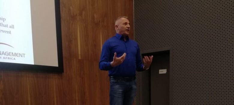 Dr. Grobbelaar speaks at the CMO Marketing Inspiration Day