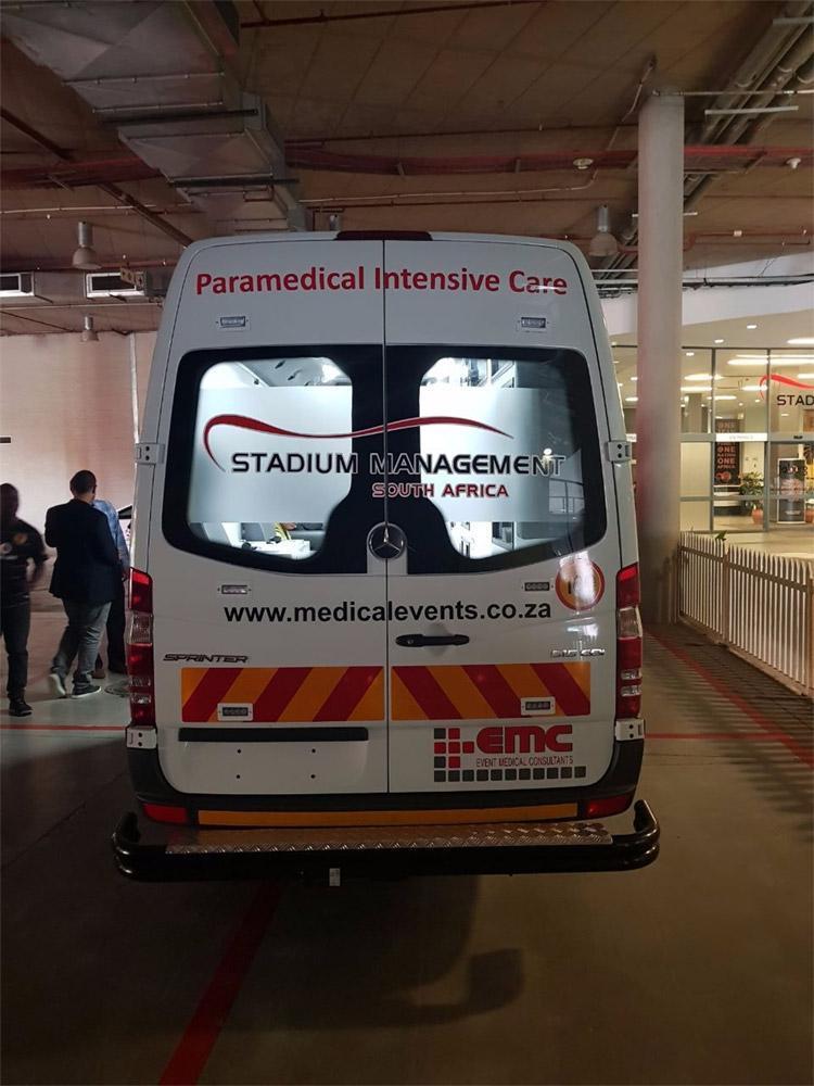 The EMC ambulance
