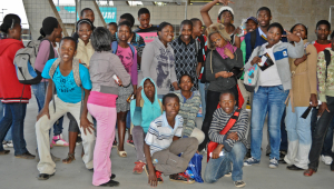 Children and learners from the Teboho Trust