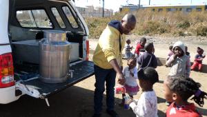 Kliptown, Soweto, with the African Children's Feeding Scheme