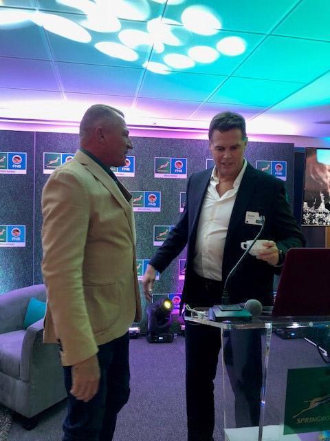 SA Rugby breakfast for Rassie Erasmus