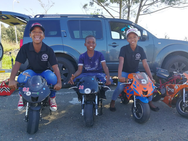 Soweto Drift Academy helps Titans Bike Academy to run kiddies riding classes