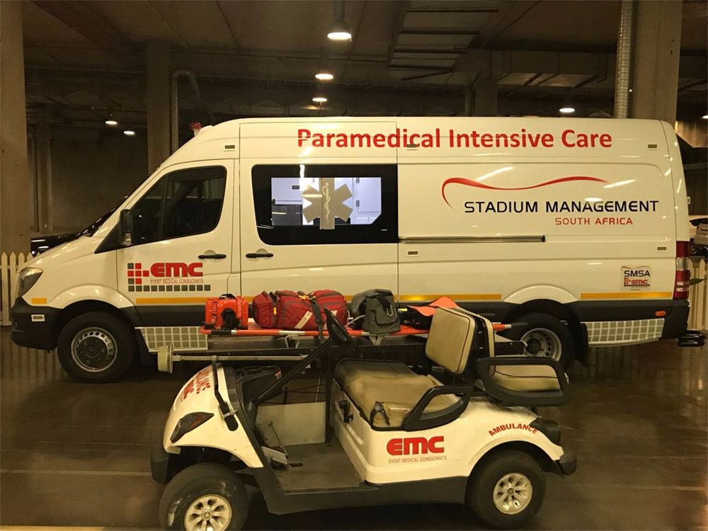 The EMC ambulance