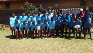 Soccer kits donated to Thathezakho Primary School