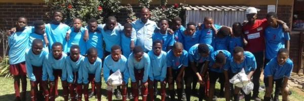 Soccer kits donated to Thathezakho Primary School