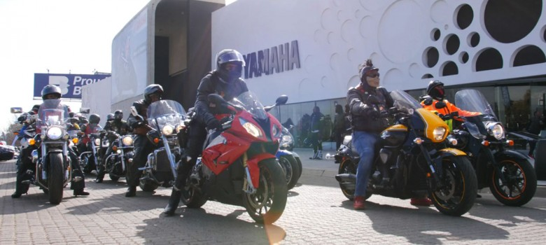 The Soweto Motorbike Training School rides for Mandela