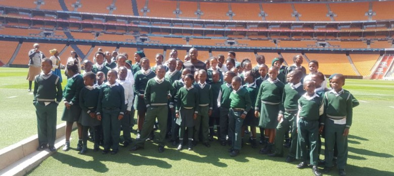 Tours for young fans at the FNB Stadium