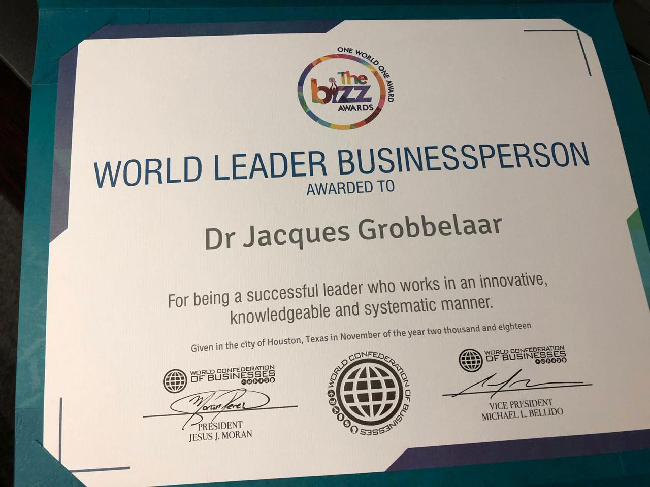 World Leader Businessperson